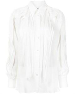 Полупрозрачная рубашка с оборками Maticevski