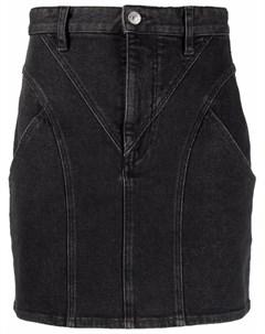 Джинсовая юбка мини со вставками Isabel marant