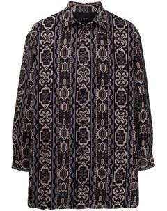 Рубашка с геометричным принтом Qasimi