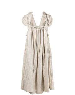 Драпированное платье миди Comme des garçons tricot