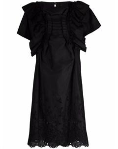 Платье миди с английской вышивкой Comme des garçons tricot