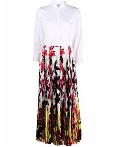 Платье рубашка со вставками и цветочным принтом Sara roka