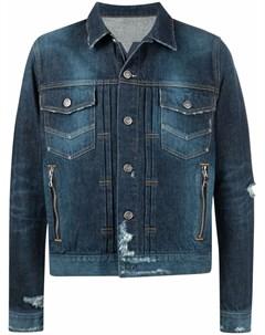 Двубортный пиджак строгого кроя Balmain