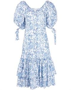 Платье миди Nella с цветочным принтом Caroline constas