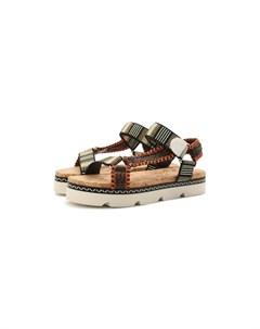 Текстильные сандалии Casadei