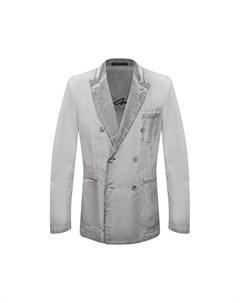 Пиджак из вискозы и льна Giorgio armani
