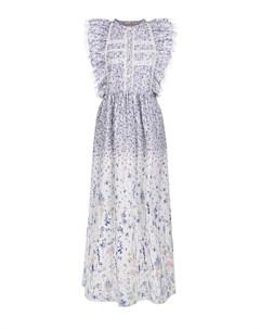 Приталенное платье миди с цветочным принтом Ermanno ermanno scervino