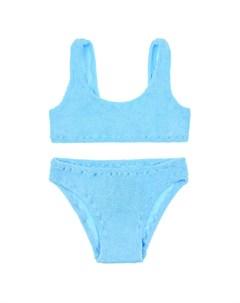 Голубой раздельный купальник детский Saint barth
