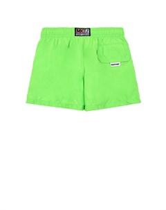 Зеленые шорты для купания детские Saint barth