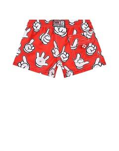 Красные шорты для купания детские Saint barth