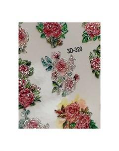 3D слайдер Crystal 329 Цветы Цветочки Anna tkacheva