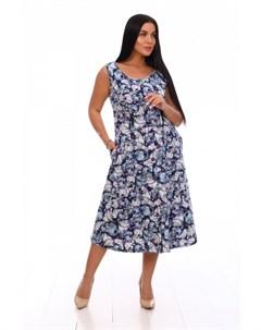 Платье трикотажное Ренэйт синее Инсантрик