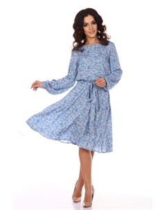 Платье вискозное Эйдин голубое Инсантрик