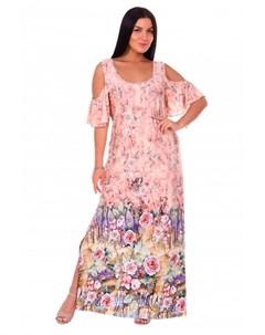 Платье вискозное Ницца персиковое Инсантрик