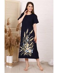 Платье трикотажное Кэтрин темно синее Инсантрик