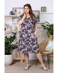 Платье трикотажное Палитра коричневое Инсантрик