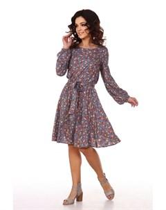 Платье вискозное Эйдин серое Инсантрик