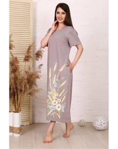 Платье трикотажное Кэтрин серое Инсантрик