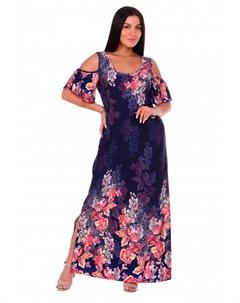 Платье вискозное Ницца фиолетовое Инсантрик