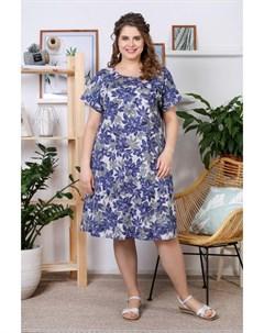 Платье трикотажное Палитра синее Инсантрик