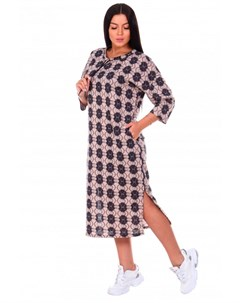 Платье трикотажное Дарина орнамент Инсантрик