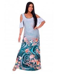 Платье вискозное Ницца изумрудное Инсантрик