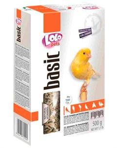 Basic корм для канареек коробка 500 гр Lolo pets