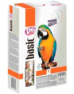 Basic корм для крупных попугаев коробка 900 гр Lolo pets