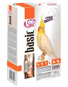 Basic корм для средних попугаев коробка 500 гр Lolo pets