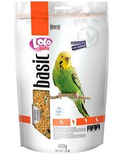 Basic корм для волнистых попугаев 600 гр Lolo pets