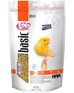 Basic корм для канареек 600 гр Lolo pets
