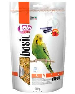 Basic корм для волнистых попугаев фруктовый 600 гр Lolo pets