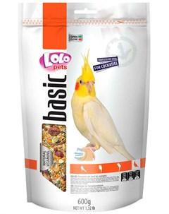 Basic корм для средних попугаев 600 гр Lolo pets