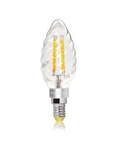 Лампа светодиодная витая свеча 4W Е14 2800К VG1 CC1E14warm4W F1 Voltega