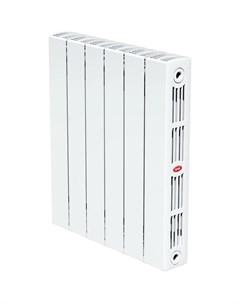 Радиатор биметаллический SUPReMO 500 90мм 6 секции правый нижнее подключение белый Rifar