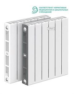 Радиатор биметаллический SUPReMO 350 90мм 10 секций правый нижнее подключение белый Rifar