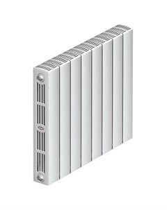 Радиатор биметаллический SUPReMO 500 8 секций 3 4 белый Rifar