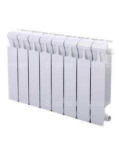 Радиатор Monolit 350 Ventil 11 секций нижнее подключение слева белый Rifar