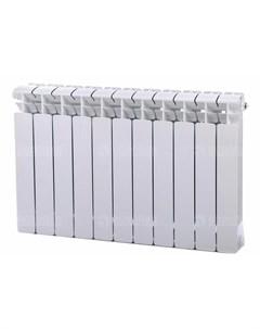 Радиатор биметаллический Base 500 Ventil 11 секций нижнее подключение справа белый Rifar