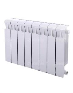 Радиатор Monolit 350 Ventil 8 секций нижнее подключение справа белый Rifar