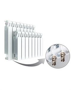 Радиатор Monolit 500 Ventil 5 секций нижнее подключение слева белый Rifar