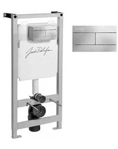 Инсталляция E21928RU CP для подвесного унитаза с панелью смыва хром Jacob delafon