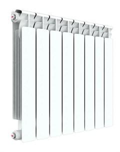 Радиатор биметаллический Alp 500 75 мм 4 секции левое подключение белый Rifar