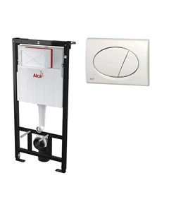 Инсталляция для унитаза AM101 1120 3 1RS M70 001 кнопка белая Alca plast