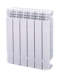 Радиатор биметаллический Alustal 500 6 секций белый Fondital