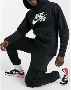 Черные штаны карго из микрофлиса на короткой молнии Nike sb