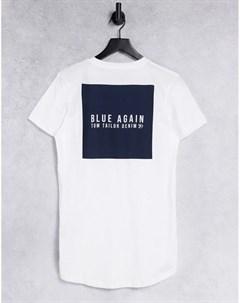 Белая футболка с принтом логотипа Tom tailor