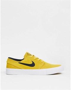 Желтые замшевые кроссовки Zoom Janoski Remastered Nike sb