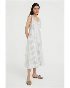 Полосатое платье из льна и хлопка Finn flare