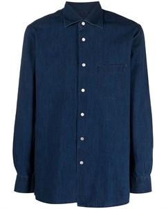 Джинсовая рубашка на пуговицах Kiton
